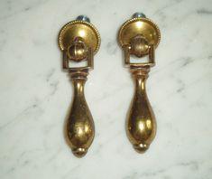 "Drawer Holes=3/"" 1 Vintage 1968 Amerock 150 Pull 5-3//4/"" Handle Dark Brass Plated"
