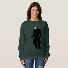 #women - #santa nosferatu xmas womens sweatshirt