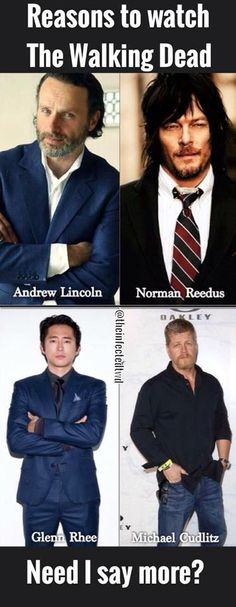 It's actually Steven Yeun not Glenn Rhee but ya even tho his and Micheal's characters were killed off