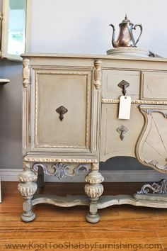Stunning furniture transformation from Knot Too Shabby: A Buffet for a Killer Bargain