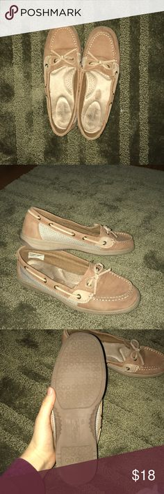 Tan loafers Knock off Sperry's worn only once! Hardly any signs of wear, and very cute. NOT ACTUAL SPERRYS! Box not included. Sperry Shoes Flats & Loafers