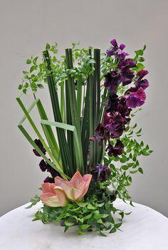 sweet pea, amaryllis, scirpus lacustris, iris ochroleuca, smilax