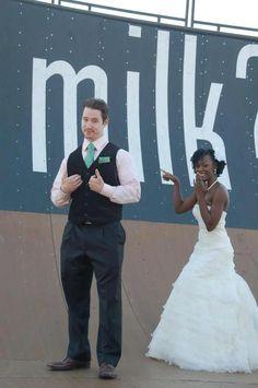 Interracial Wedding Couple