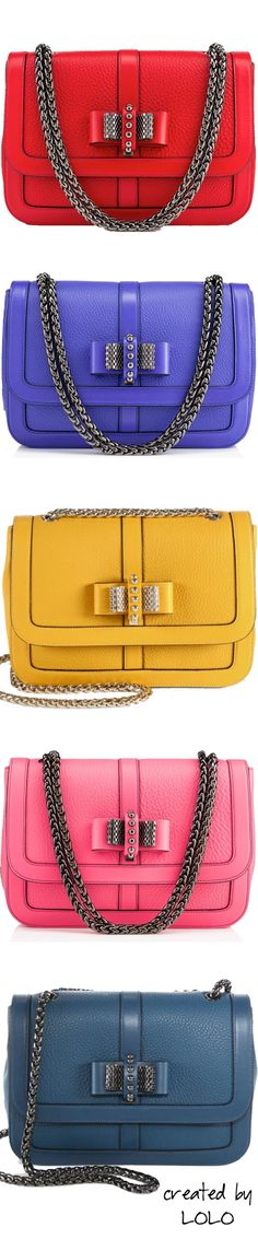 ☆ * Fashion Accessories ☆ * Christian Louboutin Sweet Charity Bow-Detail Leather Flap Bags | LOLO