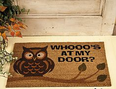 My Owl Barn: Collection: Owl Doormat @Sarah Chintomby Chintomby Wilson