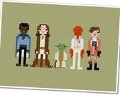 Pixel People - Star Wars - A New Hope - PDF Cross-stitch PATTERN. $6.00, via Etsy.
