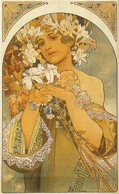 Alphonse Mucha  Flower 1897
