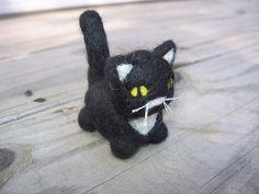 Sebastian the Little Black and White Kitty by LittleElfsToyshop on Etsy.