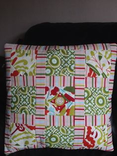 Cathedral patterned cushion