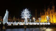 Bruges christmas market .. on the market square