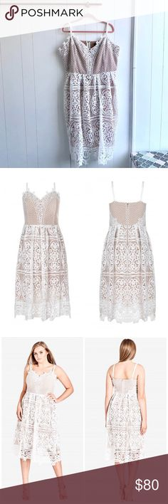 b4e3bb289f NWT City Chic White Lace Midi Dress Brand new with tags! Size 22. White