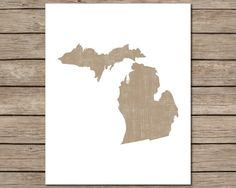 Brown Distressed Michigan Printable  INSTANT DOWNLOAD by CraftMei