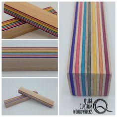 Pen Blank Rainbowwood Pen Blanks, Custom Woodworking, Plywood, Fit, Skateboard, Design, Hardwood Plywood, Skateboarding, Shape