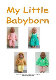 My Little Babyborn - Breien met Read more about brei, kant, verder, hoogte, sluit and totale. Doll Clothes Patterns, Clothing Patterns, Baby Born Kleidung, Outfit, Dress Making, Knitting Patterns, Knitting Ideas, Free Pattern, Crochet Hats
