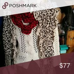 Cheetah scarfs white cream and red maroon (2) Similar one in fall dark purple! ! Will add free! !  JUST ADDED  ● FREE WITH $50+ PURCHASE ●  Price is a steal. No flaws. High quality.   BUNDLE MORE FOR LESS. LOOK IN MY CLOSET! Free stuff!  -- SHARE A FEW OF MY ITEMS, I'LL SHARE YOURS--  Tags: Feminine, intricate pattern, heavy bright colorful, happy,nature print animal, cute, art, artistic, soft, modest, cotton, comfortable Nordstrom Accessories Scarves & Wraps