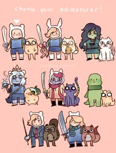 Choose your adventurer by Soupery ☆☆☆☆☆ - Adventure Time - Adventure Cartoon Games, Cartoon Shows, Cartoon Art, Adventure Time Comics, Adventure Time Finn, Cartoon Network Adventure Time, Marceline, Abenteuerzeit Mit Finn Und Jake, Adventure Time Wallpaper