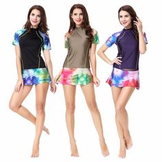 Modest Muslim Swimwears Women Two Pieces Swimsuit Short Sleeve Female  Bathing Suits Burkinis Wire Free with Pad Plus Size XX-398 2392120490f0