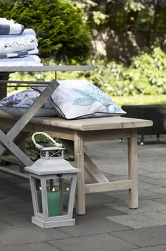 ANNE lantern and GRETHEL bench. Lene Bjerre, sprinf 2014.