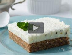 Video - Schoko-Kokos-Schnitten Cheesecake, Desserts, Food, Bakken, Coconut Yogurt, Dessert Ideas, Food And Drinks, Tailgate Desserts, Deserts