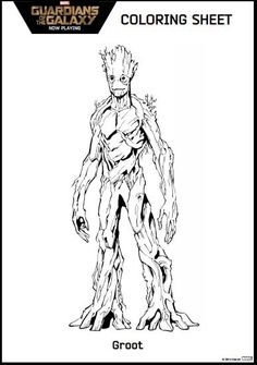 Guardians Of The Galaxy Coloring Pages Groot