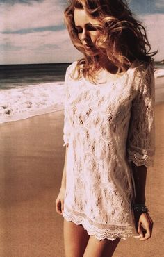 What a beautiful photograph. Peaceful & serene. Love the lacy, freeness of this summer dress. Summer simplicity at it's best.
