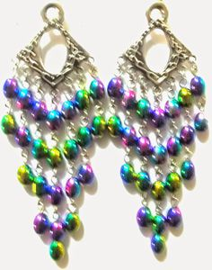 HAND MADE CHANDELIER EARRINGS FREE SHIPPING!!!