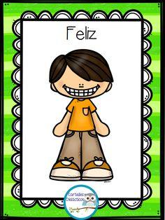 300 Tarjetas para trabajar el vocabulario – Imagenes Educativas Emotions Cards, Future Baby, Curriculum, Acting, Preschool, Teacher, Classroom, Clip Art, Comics