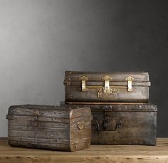 cool old trunks!