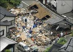 Damage caused by Japenese earthquake