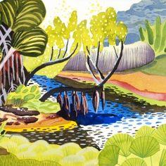 SINGAPORE GARDENS #27 by JENNIFER TYERS in Stockroom atEdwina Corlette Gallery - Contemporary Art Brisbane