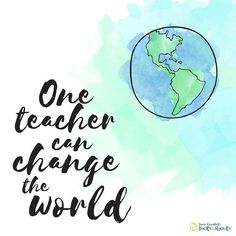 We know we because we watch #RootsandShoots educators do it every day. Here's to you, world-changers! #worldteachersday