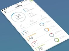 The project dashboard design for CodeRange on IOS. A mobile app for users of codebasehq.com. Due in the app store any day now! More stuff at - codebaseapp.korel...