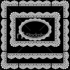 Seamless Lace trim border/Picture Frame Royalty Free Stock Vector Art Illustration