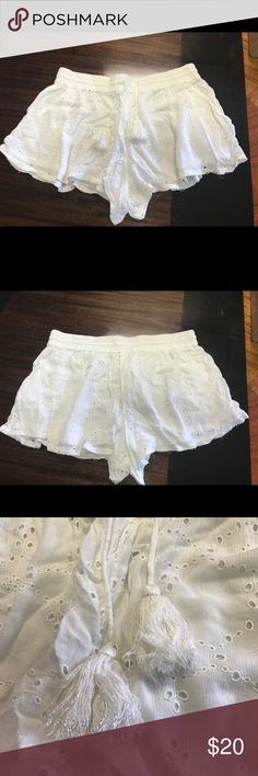 Free People White Lace Shorts Free People White Lace Shorts New. Never worn. They have been washed. Just too short for me. Free People Shorts