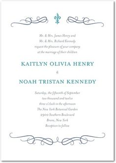 Signature Letterpress Wedding Invitations Majestic Wavy Scroll