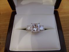 Three stone princess cut diamond ring....eeeeek EXACTLY what I want :)))