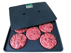 Silicone Burger Press - Perfectly Stuffed or Standard Patties Every Time, Freezer Container, 5-Patty, Grey, Stack More Than One Press In Smaller Freezer, Compact Storage * Want additional info? Click on the image.