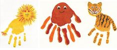 Educarpetas: Pintando con las huellas de las manos