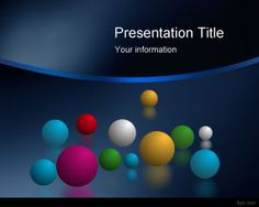 Space balls PowerPoint templates with blue background color