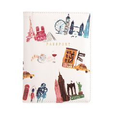 City Traveller passport holder by NUNUCO® Diy Passport Holder, Carry On Essentials, Passport Cover, Birkenstocks, Watercolor Design, Mexico Travel, Travel Accessories, Purses And Handbags, Cool Things To Buy