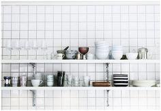 CE.SI bele kuhinjske pločice 10x10