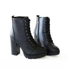 balboa-lace up-black-booties