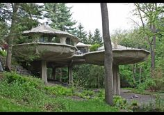 Interesting Architecture; The Mushroom House is located in my hometown near Rochester, NY. Last I looked, it was for sale!