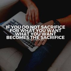 Sacrifice for what you want // follow us @motivation2study for daily inspiration