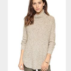 b891d90c8d Free people Dylan sweater Wore once, really cute and chunk.. Oversized Free  People