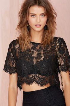 Persuasion Lace Crop Top