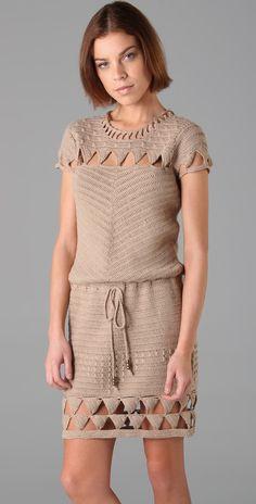 Mike Gonzalez Crochet Cap Sleeve Dress   SHOPBOP SAVE UP TO 25% Use Code: GOBIG17