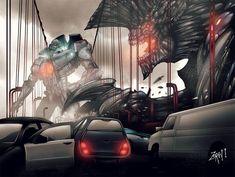 Pacific Rim Kaiju, Pacific Rim Jaeger, Gipsy Danger, Sci Fi Art, Monster, Godzilla, Attack On Titan, Pokemon, Apocalypse