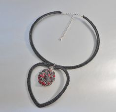 Black And Red Crochet Choker Necklace,