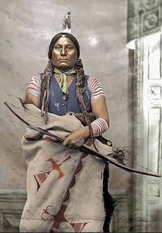 Gall, Hunkpapa Lakota Chief  Photographed by David F. Barry at Fort Buford, North Dakota, 1881. (Antique photo of Native American)